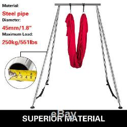 Yoga Trapeze Stand Aerial Yoga Swing Bar Hammock Stand with 20FT Aerial Silk Sets