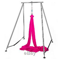 Yoga Trapeze Stand Aerial Yoga Swing Bar Hammock Stand with 472Aerial Silk Sets