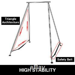 Yoga Trapeze Stand Aerial Yoga Swing Bar Hammock Stand with472Aerial Silk Sets