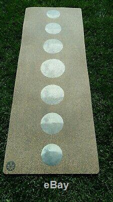 Yoloha Yoga Mat, Cork Top, Rubber Back, Phases Of The Moon, lightly used
