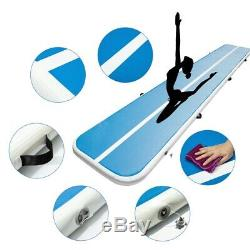20 Pi Air Piste Bleue Gonflable Gymnastic Tumbling Tapis D'exercice Accueil Sports Yoga