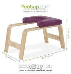 feetup entraîneur yoga headstand pieds bench up fitness